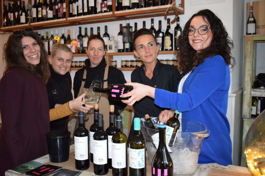 Wine in the City staff Mandì angolo conviviale